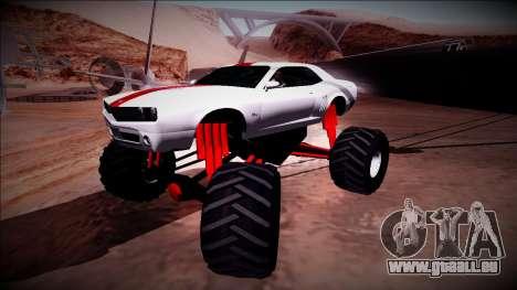 GTA 5 Bravado Gauntlet Monster Truck pour GTA San Andreas vue de côté