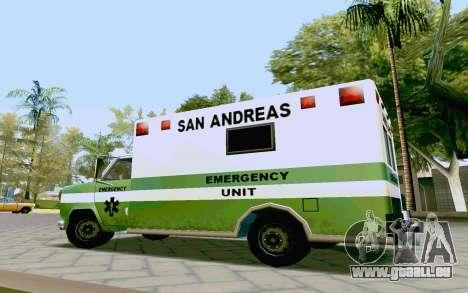 Journey Ambulance für GTA San Andreas rechten Ansicht