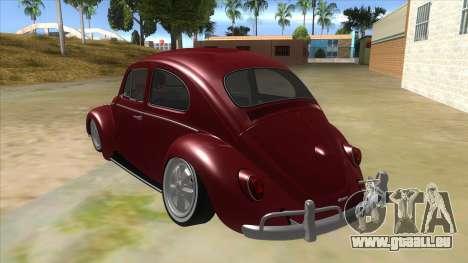 Volkswagen Beetle Aircooled V2 für GTA San Andreas zurück linke Ansicht