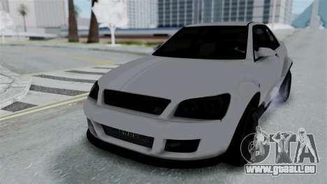 GTA 5 Karin Sultan RS Stock PJ für GTA San Andreas Unteransicht