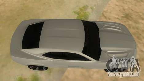 Chevrolet Camaro DOSH tuning MQ pour GTA San Andreas vue intérieure