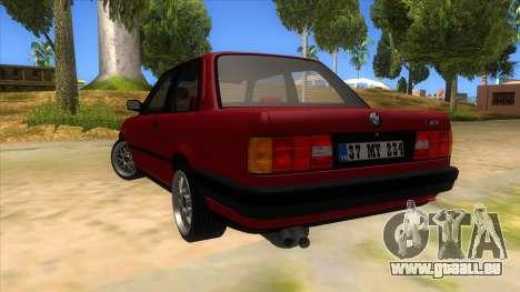 BMW M3 E30 1991 pour GTA San Andreas sur la vue arrière gauche