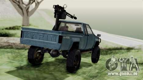 GTA 5 Karin Technical Machinegun IVF pour GTA San Andreas laissé vue