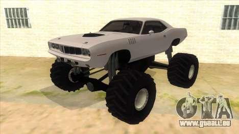 1971 Plymouth Hemi Cuda Monster Truck pour GTA San Andreas
