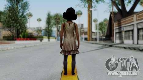 Clementine from The Walking Dead pour GTA San Andreas troisième écran