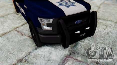 Ford F-150 2015 Policia Federal für GTA San Andreas Innenansicht