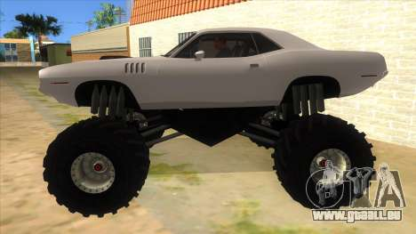 1971 Plymouth Hemi Cuda Monster Truck pour GTA San Andreas laissé vue