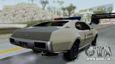 Police Clover pour GTA San Andreas laissé vue