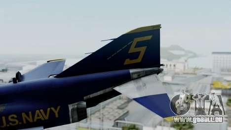McDonnell Douglas RF-4B Blue Angels pour GTA San Andreas sur la vue arrière gauche