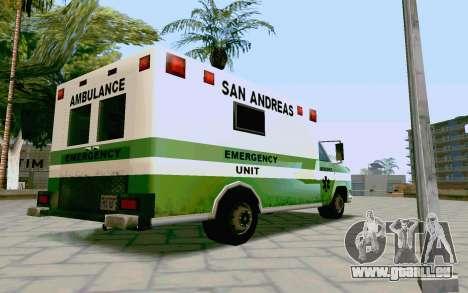 Journey Ambulance für GTA San Andreas linke Ansicht