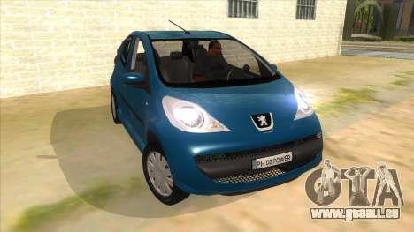 2005 Peugeot 107 V2 pour GTA San Andreas vue arrière