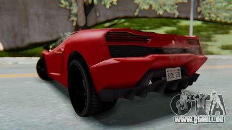 GTA 5 Pegassi Vacca SA Style pour GTA San Andreas laissé vue