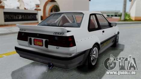 GTA 5 Karin Futo Rally Car v2.0 pour GTA San Andreas laissé vue