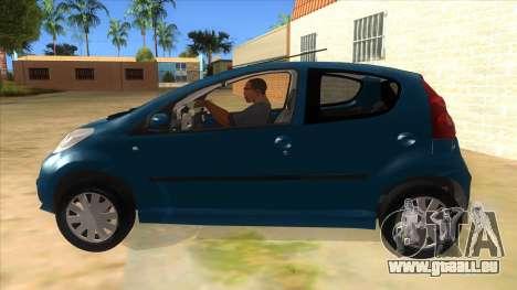 2005 Peugeot 107 V2 pour GTA San Andreas laissé vue