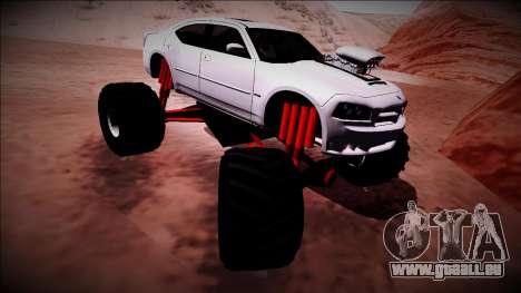 2006 Dodge Charger SRT8 Monster Truck für GTA San Andreas Unteransicht