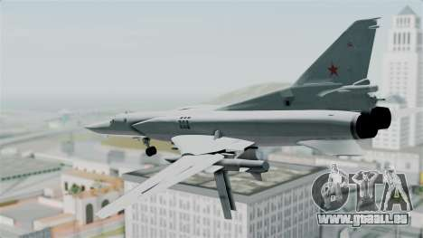 TU-22M3 Vert pour GTA San Andreas vue de droite