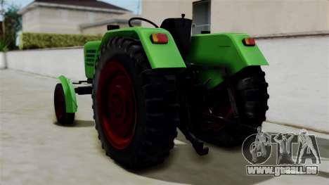 Torpedo Traktor pour GTA San Andreas laissé vue