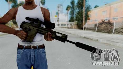 SCAR-20 v1 Folded für GTA San Andreas dritten Screenshot