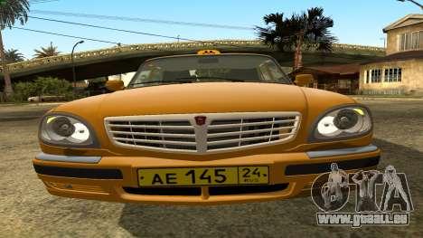 GAZ 31105 Volga Taxi FIV pour GTA San Andreas vue de dessus