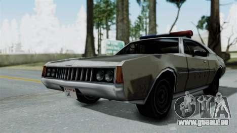 Police Clover pour GTA San Andreas sur la vue arrière gauche