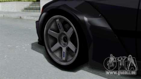BMW M3 E36 Widebody pour GTA San Andreas sur la vue arrière gauche