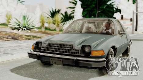 AMC Pacer 1978 IVF für GTA San Andreas