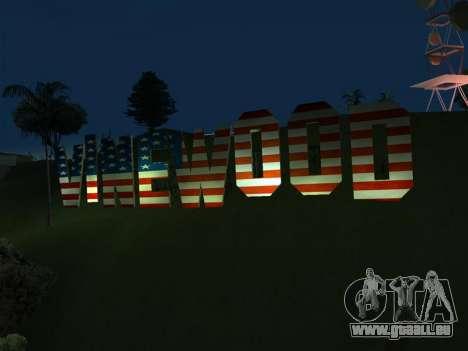 New Vinewood colors USA flag für GTA San Andreas zweiten Screenshot