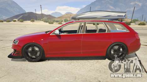 GTA 5 Audi RS6 Avant C6 2009 linke Seitenansicht