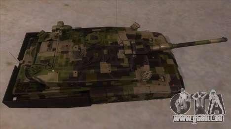 MBT52 Kuma pour GTA San Andreas vue intérieure