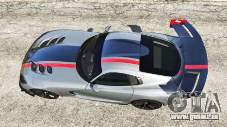 GTA 5 Dodge Viper SRT ACR 2016 Rückansicht