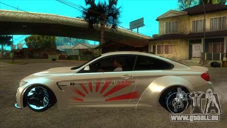 BMW M4 Liberty Walk Performance pour GTA San Andreas laissé vue