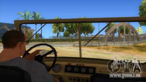 UAZ-469 Desert pour GTA San Andreas vue intérieure