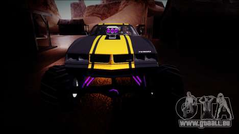 GTA 5 Imponte Phoenix Monster Truck pour GTA San Andreas vue de dessus