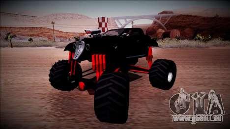 GTA 5 Hotknife Monster Truck für GTA San Andreas rechten Ansicht