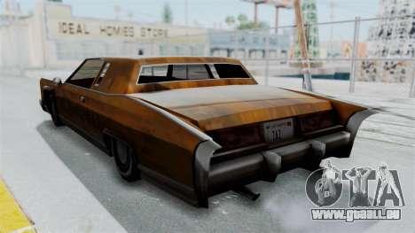 Vinyl Rust für Remington für GTA San Andreas rechten Ansicht