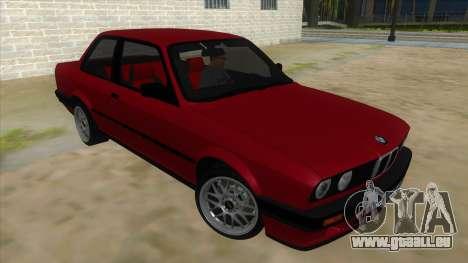 BMW M3 E30 1991 pour GTA San Andreas vue arrière