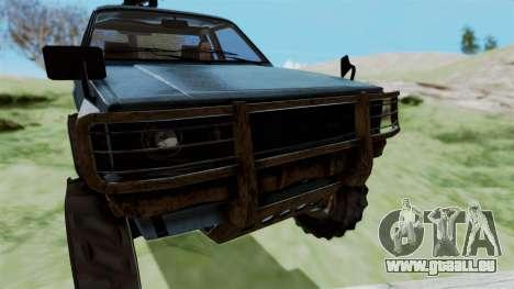 GTA 5 Karin Technical Machinegun IVF für GTA San Andreas Rückansicht