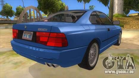 BMW 850i E31 pour GTA San Andreas vue de droite