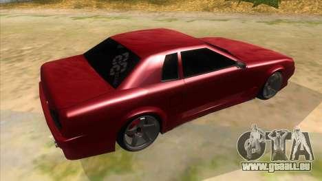 GTR Elegy pour GTA San Andreas vue de droite