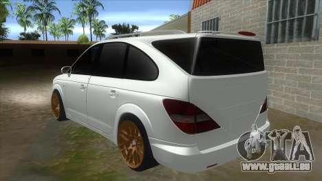 SsangYong Rodius 3.2 AT 2007 pour GTA San Andreas sur la vue arrière gauche