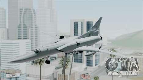 TU-22M3 Vert pour GTA San Andreas sur la vue arrière gauche
