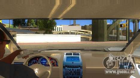 Peugeot 407 pour GTA San Andreas vue intérieure