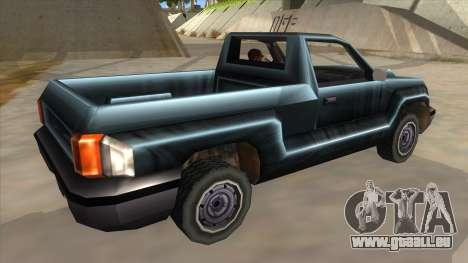 GTA III Bobcat Original Style pour GTA San Andreas vue de droite