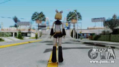 Project Diva F2 - Kagamine Rin (Costume 1) pour GTA San Andreas troisième écran