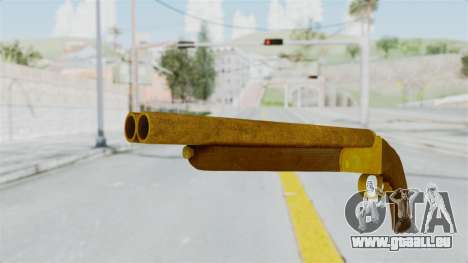 Double Barrel Shotgun Gold Tint (Lowriders CC) für GTA San Andreas