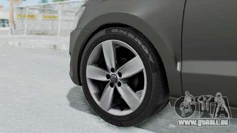 Volkswagen Polo 6R 1.4 HQLM für GTA San Andreas zurück linke Ansicht