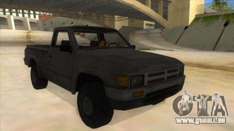 Toyota Hilux Militia für GTA San Andreas Rückansicht