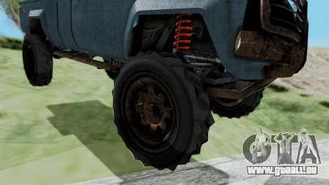 GTA 5 Karin Technical Machinegun IVF für GTA San Andreas zurück linke Ansicht