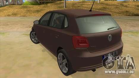 Volkswagen Polo 6R 1.4 pour GTA San Andreas sur la vue arrière gauche