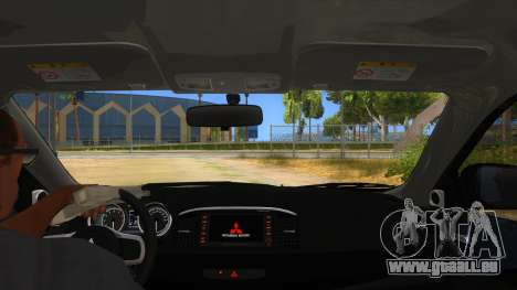 Mitsubishi Lancer Evolution X Koi-chan Itasha pour GTA San Andreas vue intérieure